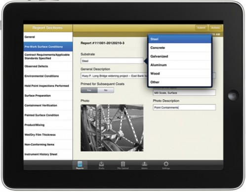 TruQC app - cloud-based job-site documentation for the iPad
