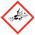 Exploding bomb OSHA hazard icon