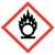 Flame over circle OSHA hazard icon