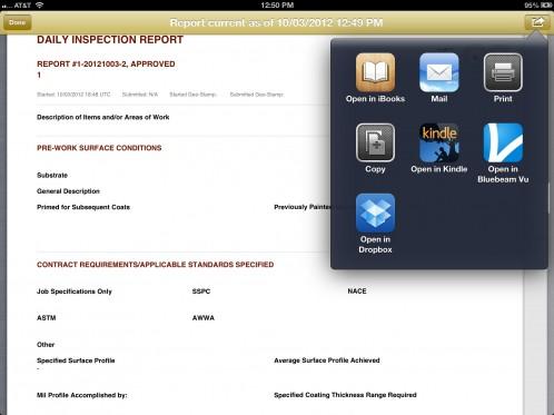 Job-site documentation app compatible with Dropbox