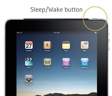 Sleep wake button