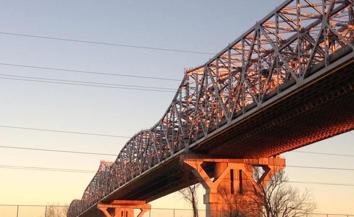Huey Long Bridge painting
