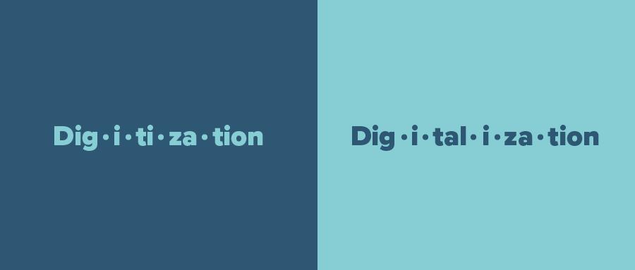 digitalization vs. digitalization
